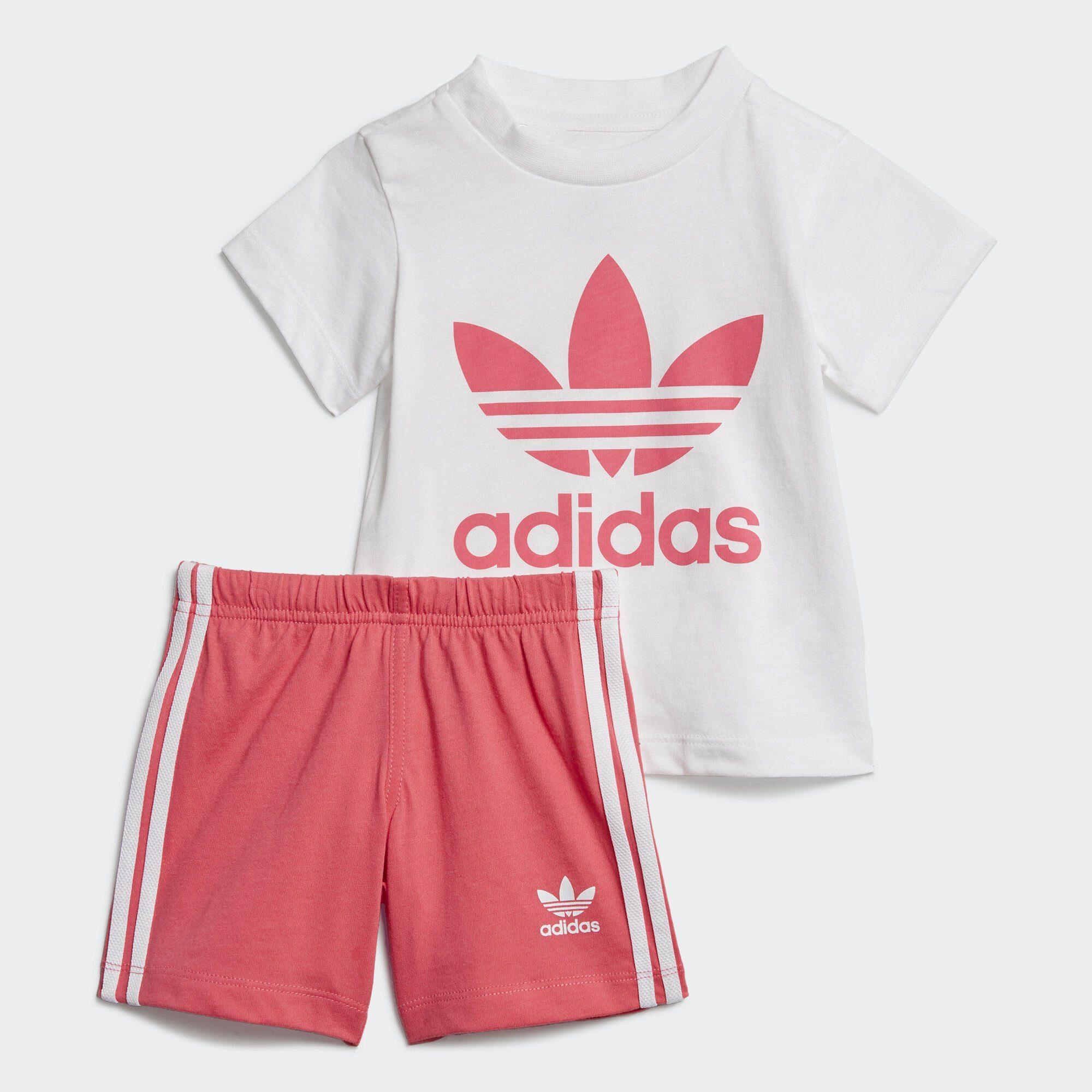 adidas Originals Funktionstights »Trefoil Shorts und T Shirt Set« adicolor online kaufen | OTTO