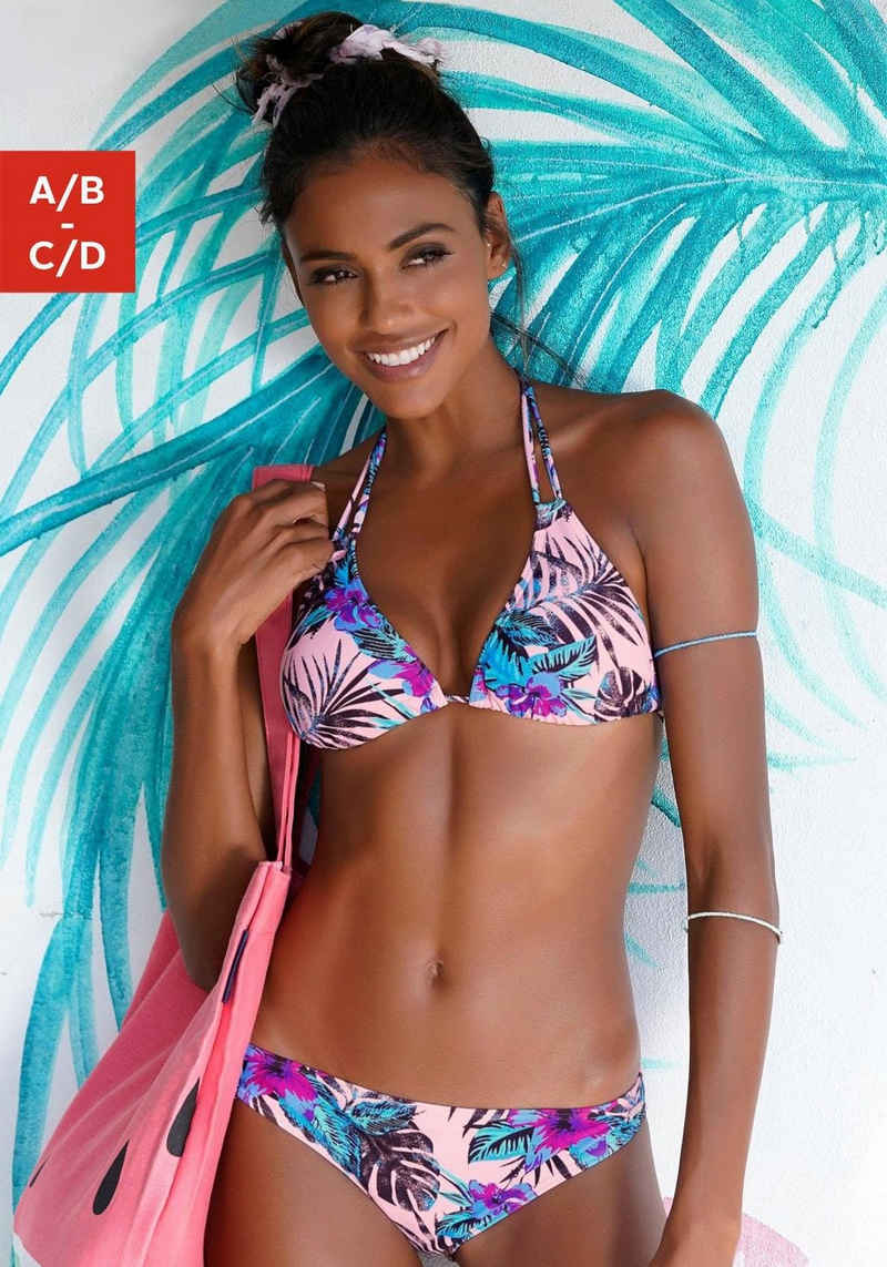 Venice Beach Triangel-Bikini-Top »Marly«, mit tropischem Print