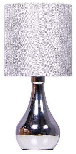 Home affaire Tischleuchte »METAL BODY«, Tischlampe mit Touch - Funktion und Stoff - Lampenschirm