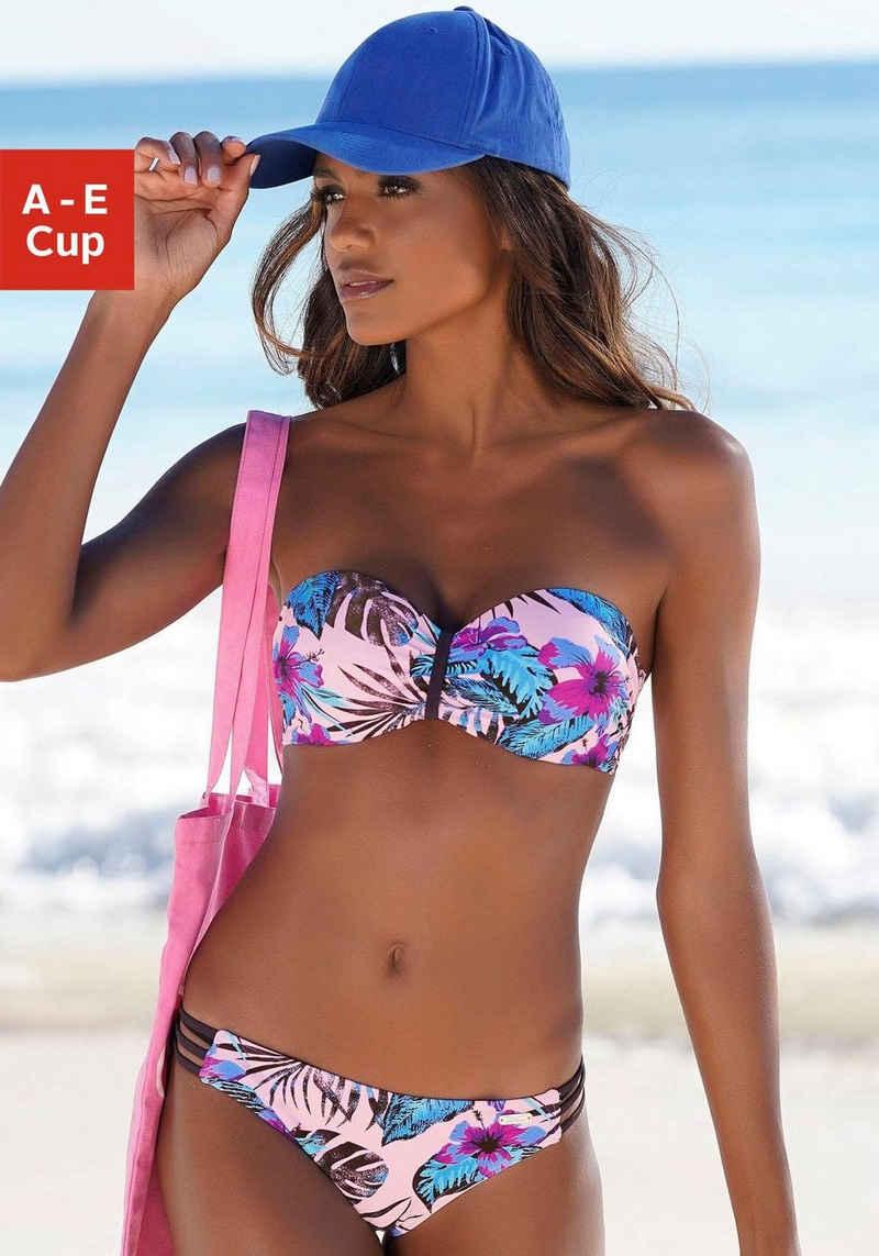 Venice Beach Bandeau-Bikini-Top »Marly«, mit tropischem Print