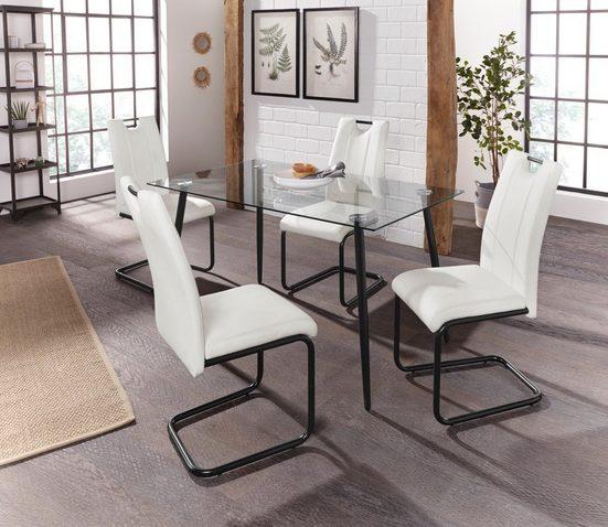 Essgruppe »Danny - Linea«, mit Esstisch, Breite 140 cm und 4 Stühlen
