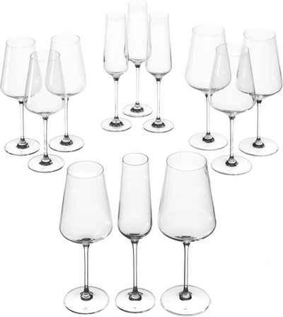 LEONARDO Gläser-Set »Puccini«, Glas, Teqton-Qualität, 12-teilig