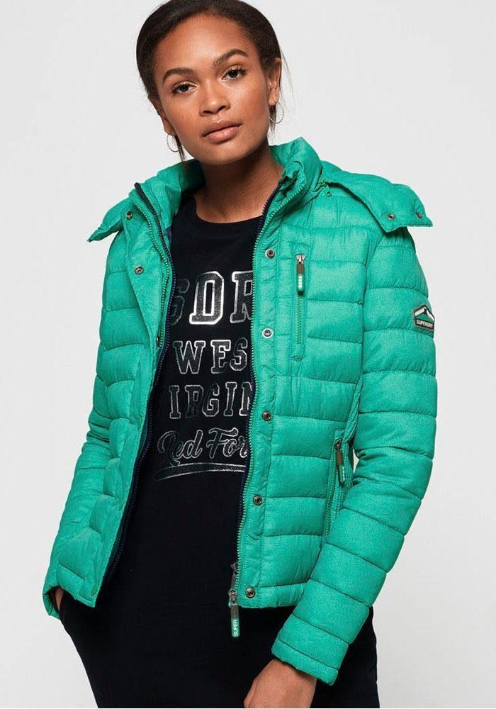 Superdry Steppjacke »FUJI SLIM DOUBLE ZIPHOOD« im modischen Melange Effekt online kaufen | OTTO