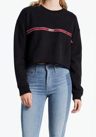 Levi's® Sweatshirt »Graphic Raw Cut Hem« mit kleinem Levi's® Logo