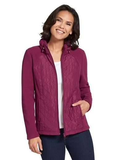 Casual Looks Fleece-Jacke mit Steppungen