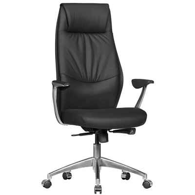 FINEBUY Chefsessel »SuVa1069_1« Bürostuhl OXET1 Echt Leder Schreibtischstuhl 120KG Chefsessel mit Synchronmechanik Drehstuhl
