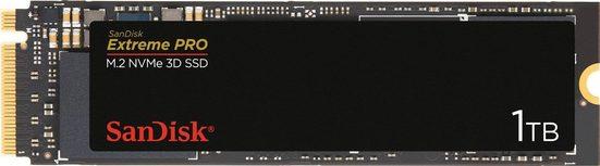 Sandisk »Extreme PRO M.2 NVMe 3D« SSD (1 TB) 3400 MB/S Lesegeschwindigkeit, 2500 MB/S Schreibgeschwindigkeit)