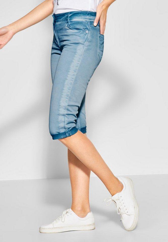 Cecil 5-Pocket-Hose in Vintage Waschung | Bekleidung > Hosen > 5-Pocket-Hosen | Blau | Elasthan | Cecil