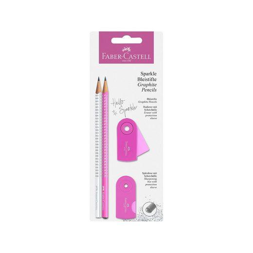 Faber-Castell Bleistiftset Sparkle pearl pink/weiß, 3-tlg.