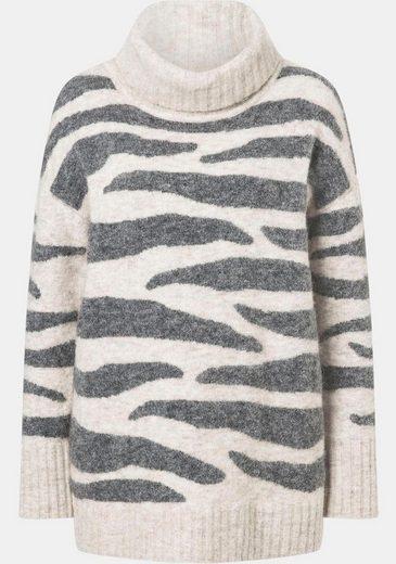 Laurèl Rollkragenpullover mit Animalprint