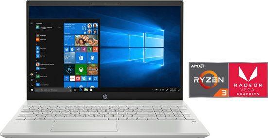 HP 15-cw12 Notebook (39,6 cm/15,6 Zoll, AMD Ryzen 3, 512 GB SSD)
