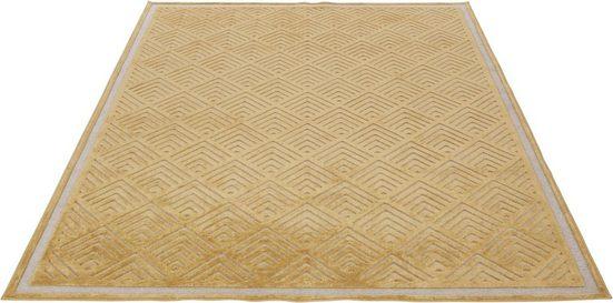 Teppich »Liam«, Guido Maria Kretschmer Home&Living, rechteckig, Höhe 4 mm, Seidenglanz mit Hoch-Tief-Effekt