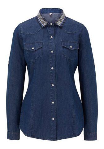 CASUAL джинсовая блузка с besticktem в...