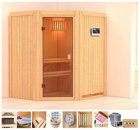 KONIFERA Sauna »Amrum«, 170x151x198 cm, 9 kW Bio-Ofen mit ext. Steuerung