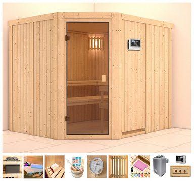 KONIFERA Sauna »Amrum«, 231x196x198 cm, 9 kW Ofen mit ext. Steuerung