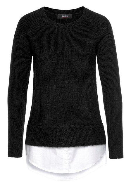 Aniston CASUAL 2-in-1-Pullover mit Blusenansatz am Saum   Bekleidung > Pullover > 2-in-1 Pullover   Aniston CASUAL