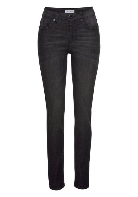 Hosen - Aniston CASUAL Skinny fit Jeans Regular Waist › schwarz  - Onlineshop OTTO