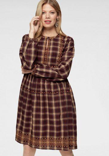 Aniston CASUAL Blusenkleid mit Stickereien verziert - NEUE KOLLEKTION