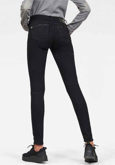 ec23210da4f1fc G-Star RAW Skinny-fit-Jeans »Midge Zip Mid Skinny« mit