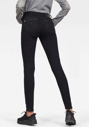 G-Star RAW Skinny-fit-Jeans »Midge Zip Mid Skinny« mit Reißverschluss-Taschen hinten