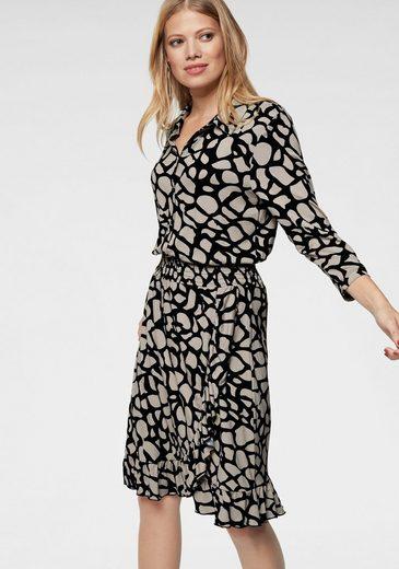 Aniston CASUAL Jerseykleid in Wickeloptik
