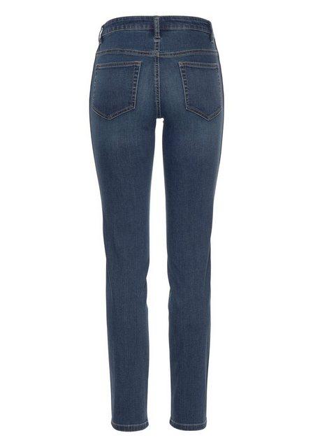 Hosen - Aniston CASUAL Skinny fit Jeans low waist › blau  - Onlineshop OTTO