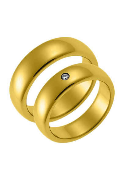 CORE by Schumann Design Trauring »TW003.03/19004730, TW003.07/19013837«, wahlweise mit oder ohne Zirkonia, Made in Germany