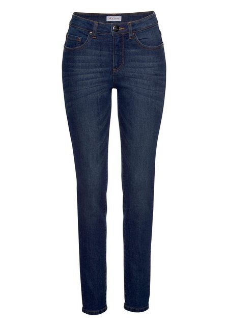 Hosen - Aniston CASUAL Skinny fit Jeans Regular Waist › blau  - Onlineshop OTTO