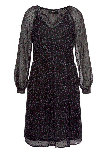Aniston CASUAL Partykleid aus strukturiertem Chiffon | Bekleidung > Kleider > Partykleider | Aniston CASUAL
