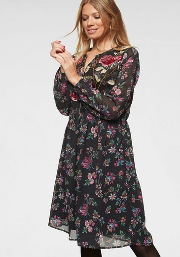 Aniston CASUAL Partykleid mit aufwändig besticktem Vorderteil