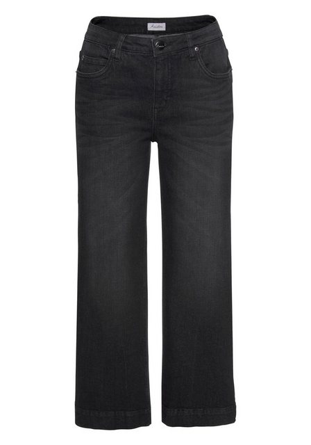 Hosen - Aniston CASUAL 7 8 Jeans in Used Waschung › schwarz  - Onlineshop OTTO