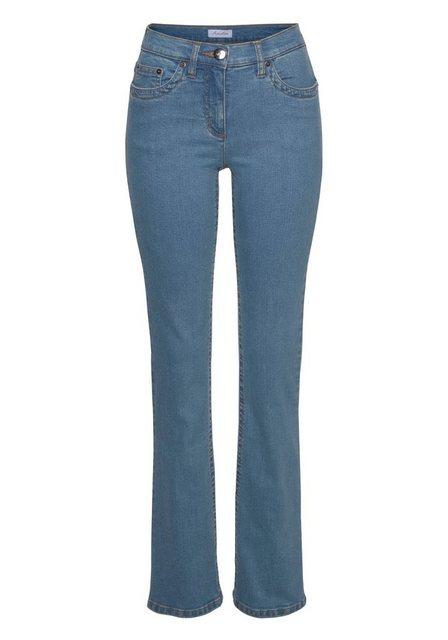 Hosen - Aniston CASUAL Bootcut Jeans »Simone« Regular Waist › blau  - Onlineshop OTTO