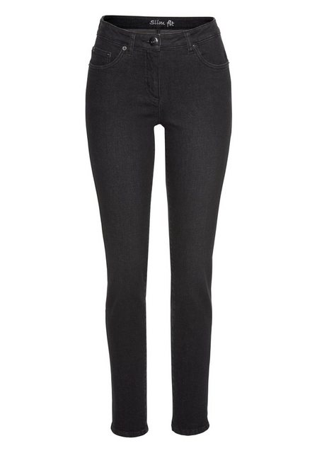 Hosen - Aniston CASUAL Slim fit Jeans »Anja« Regular Waist › schwarz  - Onlineshop OTTO