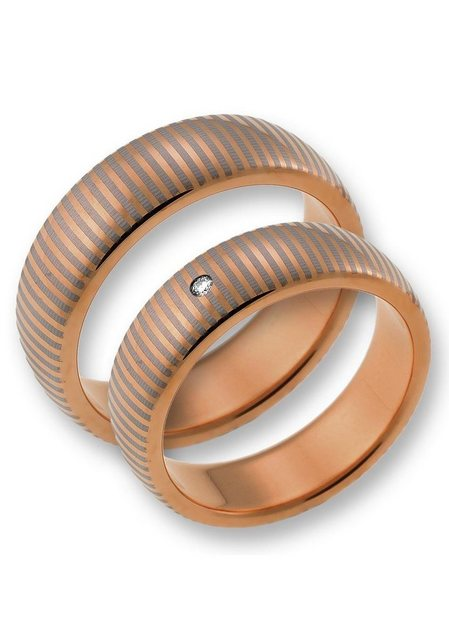 CORE by Schumann Design Partnerring »TW003.22/19107128, 19107129« wahlweise mit oder ohne Zirkonia, Made in Germany | Schmuck > Ringe > Partnerringe | CORE by Schumann Design