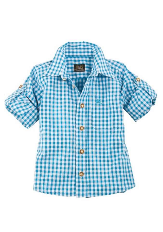 OS-Trachten Trachtenhemd Kinder kariert für Mädchen und Buben