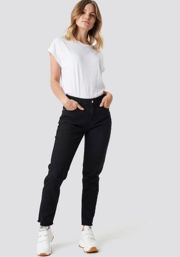 NA-KD Boyfriend-Hose »1236« Mom Jeans mit ausgefransten Saum im 5Pocket Style