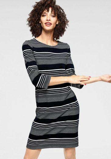 Aniston SELECTED Jerseykleid im edlen Streifen-Dessin - NEUE KOLLEKTION