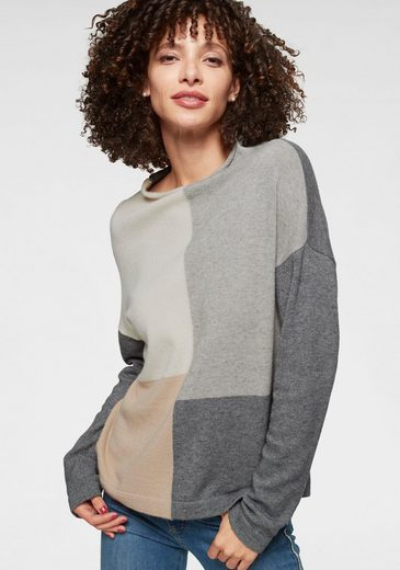 Aniston SELECTED Strickpullover im Colorblocking