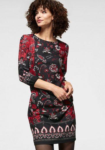 Aniston SELECTED Jerseykleid mit Bordüren-Abschlüssen - NEUE KOLLEKTION