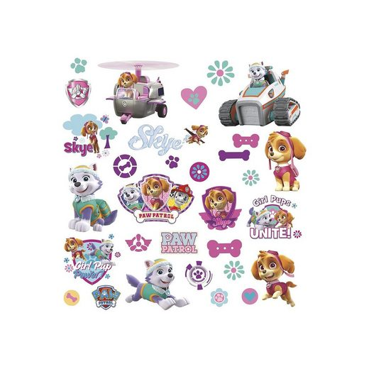 RoomMates Wandsticker Paw Patrol Girl Pups