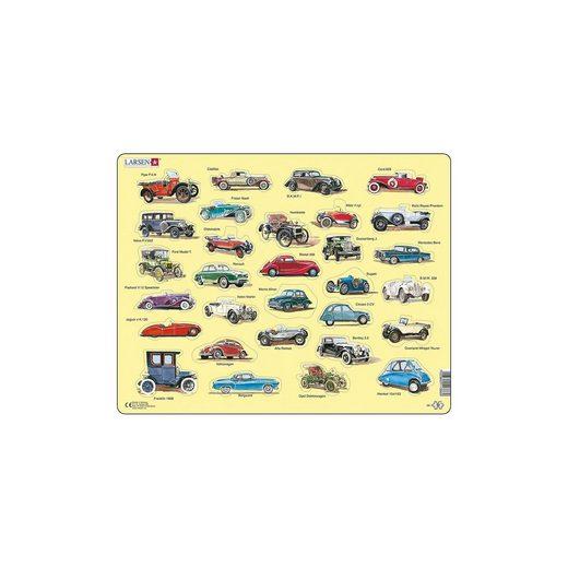 Larsen Rahmen-Puzzle, 30 Teile, 36x28 cm, Oldtimer Auto
