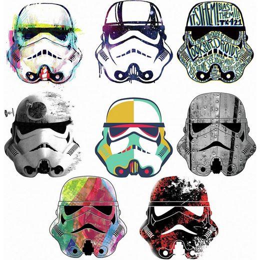 RoomMates Wandsticker Star Wars Artistic Storm Troopers