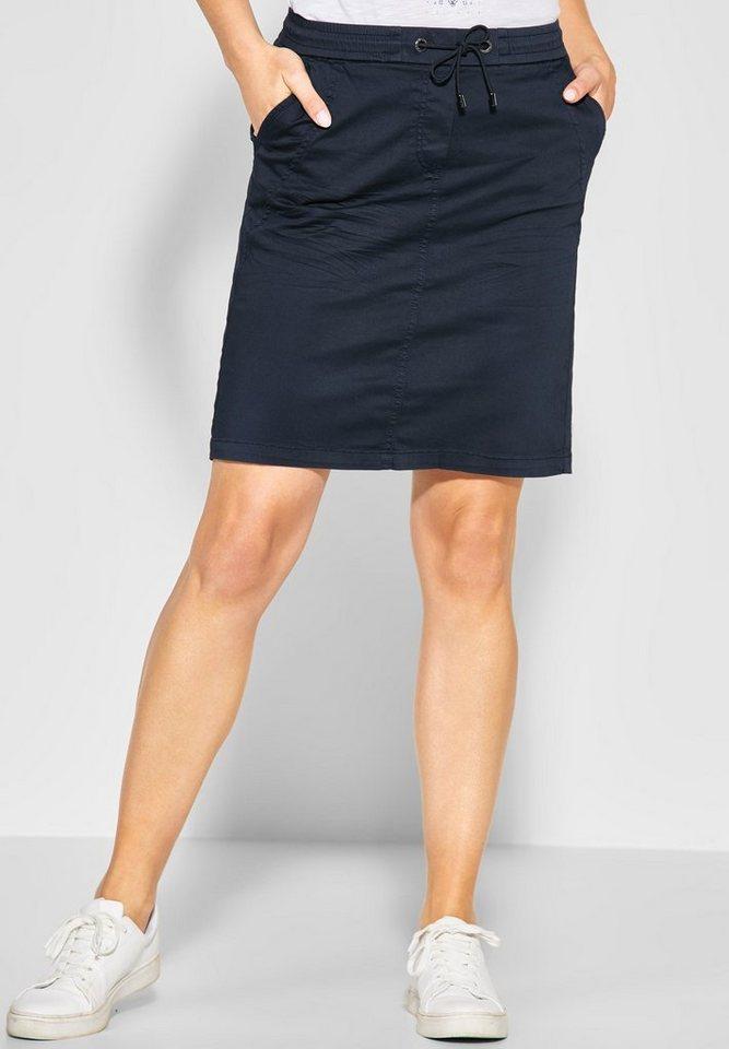 Cecil A-Linien-Rock im Joggstyle   Bekleidung > Röcke > A-Linien Röcke   Blau   Baumwolle - Elasthan   Cecil