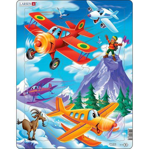 Larsen Rahmen-Puzzle, 20 Teile, 36x28 cm, Flugzeuge