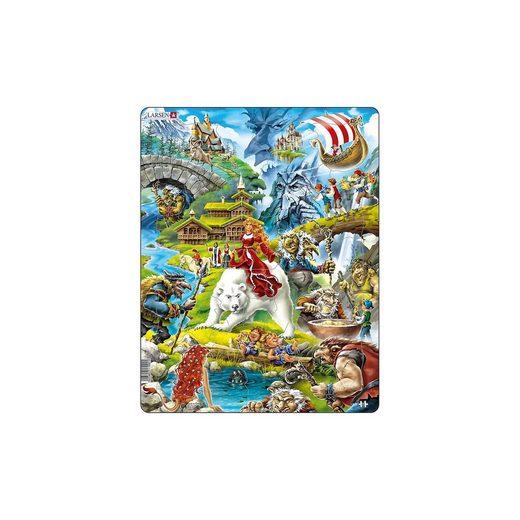 Larsen Rahmen-Puzzle, 30 Teile, 36x28 cm, Märchen