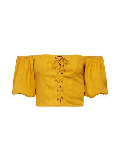 New Look Carmenshirt gerafft