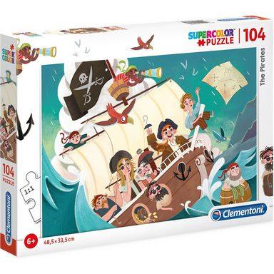 Clementoni® Puzzle 104 Teile - Piraten