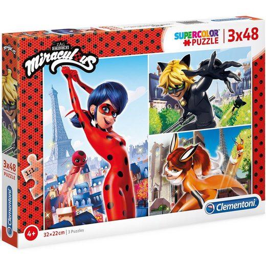 Clementoni® Puzzle 3x48 Teile - Miraculous