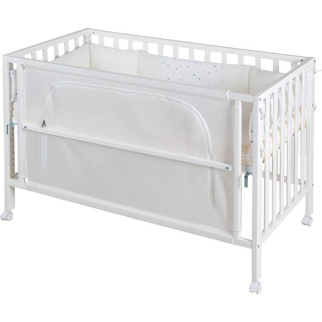 Kinderbetten - Roba® Kinderbett safe asleep Sternenzauber » weiß  - Onlineshop OTTO