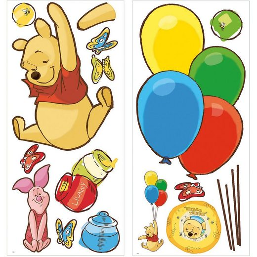 RoomMates Wandsticker Pooh & Piglet Giant, 16-tlg.